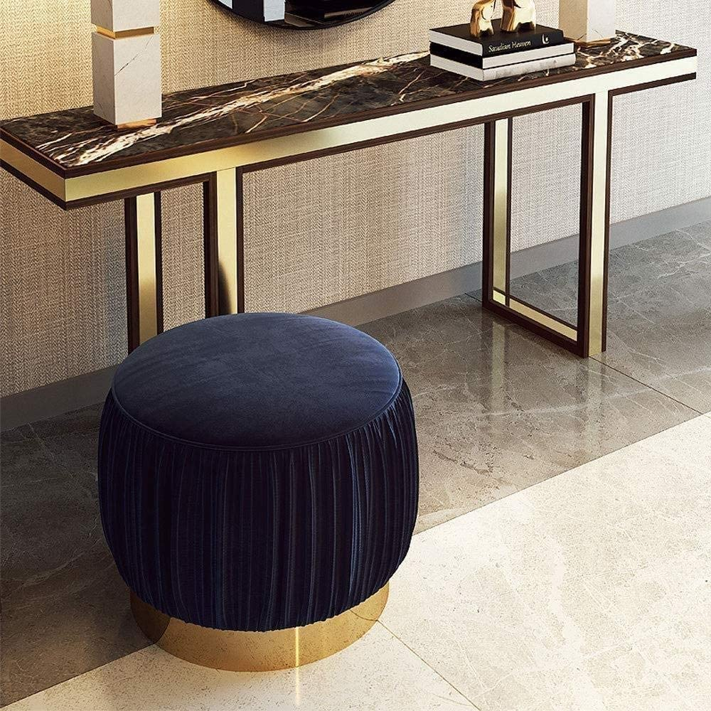 A/N Pouf siège Pouf Tabouret-Banc de Chaussures Habillage Tabouret Chaise de Maquillage canapé créatif Tabouret Minimaliste Moderne-Vert foncé Bleu Royal