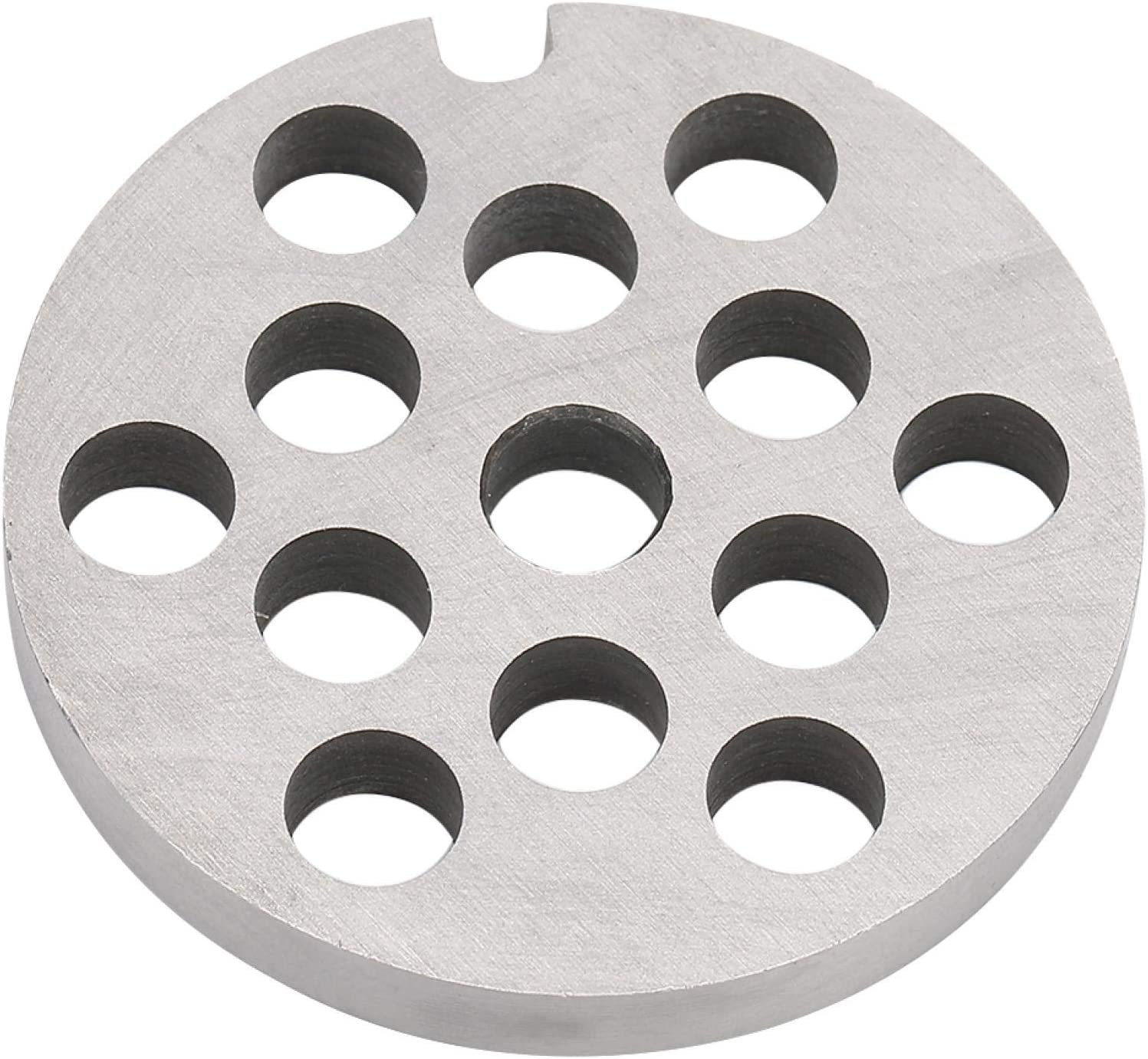Placa de picadora de carne de 5 cm, hoja de picadora de acero inoxidable plateado, cuchillo de disco de cocina para carne, frutas o verduras caseras (8 mm)