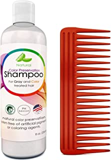 Natural Shampoo for Color Treated Hair - Hair Color Preservation Sulfate Free Shampoo for Oily Hair Care -Thickening Shamp...