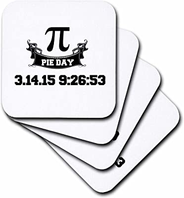 (set-of-4-Soft) - 3dRose cst_202809_1 Pi Day Soft Coasters, Set of 4