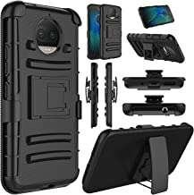 Moto G5S Plus Case, Elegant Choise Hybrid Heavy Duty Dual Layer Shockproof [Swivel Belt Clip] Holster with [Kickstand] Combo Rugged Protective Case Cover for Motorola Moto G5S Plus / XT1806 (Black)