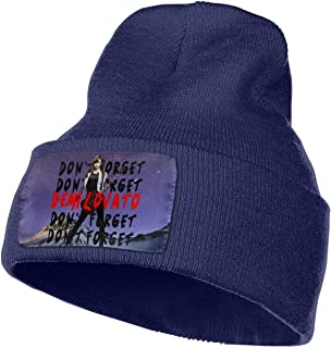 MichaelRoberson Skull Cap Thick Womans Mans Knit Beanie Hat Demi Lovato Don't Forget Cool Thermal Knit Hats Navy