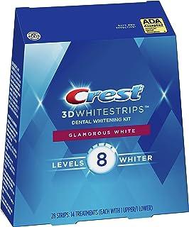 Crest 3D White Luxe Whitestrip Teeth Whitening Kit, Glamorous White, 14 Treatments, (Packaging May Vary)