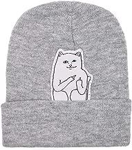 Funbase Unisex Men Women Knitted Hip Hop Beanie Hat Cat Crochet Skull Cap