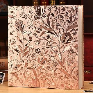 Ywlake Album photo 1000 pochettes crocodile 10 x 10 cm Couverture en cuir extra large Album photo de famille pour mariage pouvant contenir 1000 photos de 10 x 15 cm Argent/é