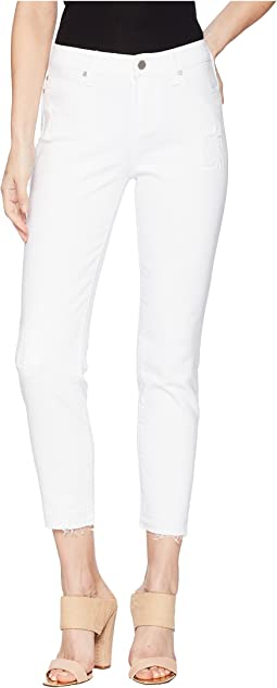Liverpool Avery Crop in Comfort Stretch Denim in Atrium White Destruct