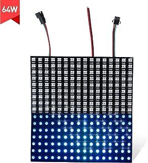 AOPUTTRIVER Matrix Panel Led Panel Light 16X16 256 Pixels RGB Matrix LED Board led Panel Dimmable Led Module Advertising Led Board Dream Color Individually Addressable DIY Soldering for Home KTV Bar