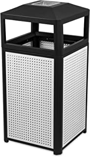 BestEquip Garbage Can 15 Gallon Trash Cans Commercial Outdoor Trash Can with Ash Urn for Coffee Houses Campuses and Parks
