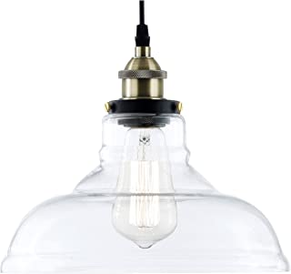 e803d357ba65 Light Society Classon Edison Pendant Light, Clear Glass Shade with Antique  Brass Finish, Vintage