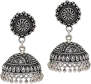 Indian Bollywood Oxidised Silver Plated Earrings Jewellery Gift