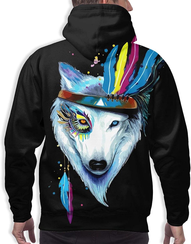 Hoodie For Mens Womens Teens Hippie Wolf 3d Printed Hooded Sweatshirt