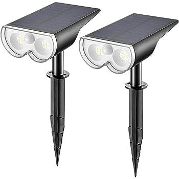2 XLED Solarleuchte Wandleuchte Gartenlampe mit Bewegungsmelder Solarstrahler v6