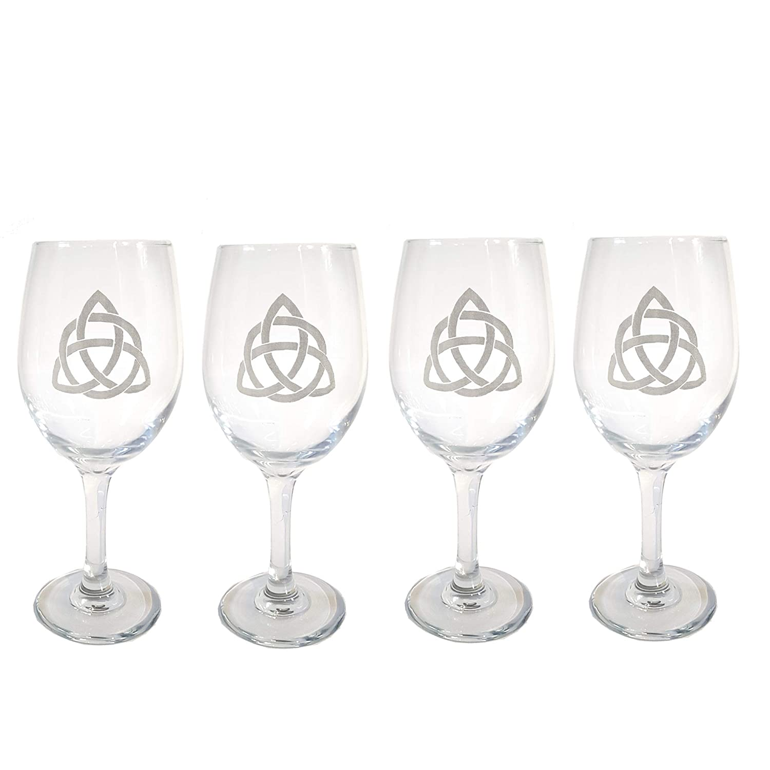 Celtic Trinity Clear Wine Glass Set 4 Eng High Branded goods quality new - Free of Personalized