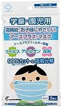 アースプラス・マスク (4層プリーツ型) キッズサイズ 個別包装3枚入り