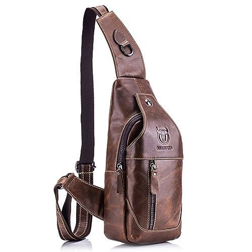Charminer Men Genuine Leather Chest Bag 25533349e1e03