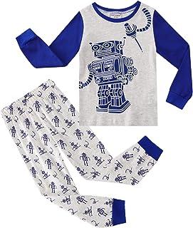 مجموعة ملابس من قطعتين من القطن بأكمام طويلة ورقبة مستديرة للأطفال الصغار والأولاد والبنات والأولاد والبنات والربيع