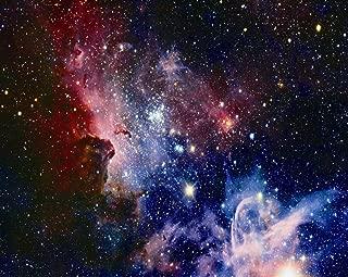 Kooer 9x6ft Nebula Galaxy Pictiorial Cloth Digital Printing Studio Photography Backdrops