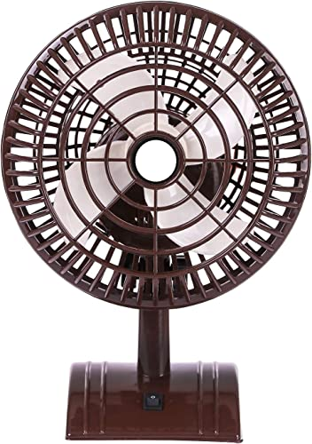 Kelific Home Mini Table Fan 9 Inch 100 Copper Motor 1 Year Warranty Limited Edition Model Sweety Brown H541