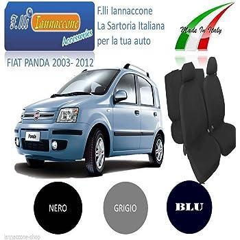 COPRISEDILI FIAT PANDA DAL 2012 FODERE CON POSTERIORE DIVISO 1-3 BLU SCURO