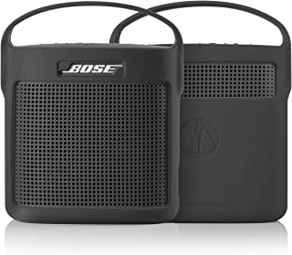 TXEsign Protective Silicone Stand Up Case with Handle for Bose SoundLink Color Bluetooth Speaker II (Dark Grey)