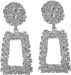HOUBL New Fashion Crystal Jewelry Vintage Tassel Statement Bib Stud Earrings For Women Jewelry Gift 10 Colors Hot Sale