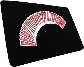 全3色 本格派 滑らか クロースアップマット 裏面ラバー 加工 コイン トランプ 手品 マジック マット 滑り止め 付き テーブル マジック 魔術 マジシャン 用品 (黒(38×52))