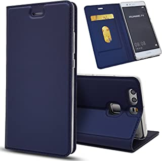 Huawei Mate 10 Case, Jaorty Huawei Mate 10 Classic PU Leather Wallet Case Slim Folio Book Cover with Credit Card Slots, Cash Pocket, Stand Holder, Magnet Closure for Huawei Mate 10 - Blue