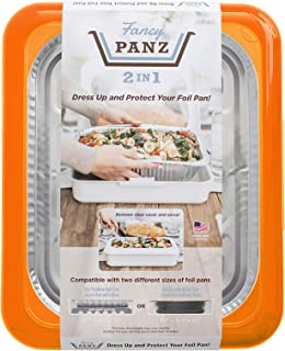 Fancy Panz 2-in-1 Dress Up & Protect Your Foil Pan, Made in USA, Fits 2 size of foil pans. Foil Pan & Serving Spoon Includ...