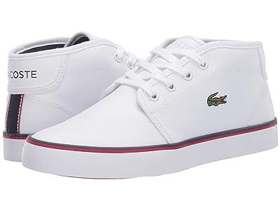 Lacoste Kids Ampthill 120 1 CUJ (Little Kid/Big Kid) (White/Navy/Red) Kid