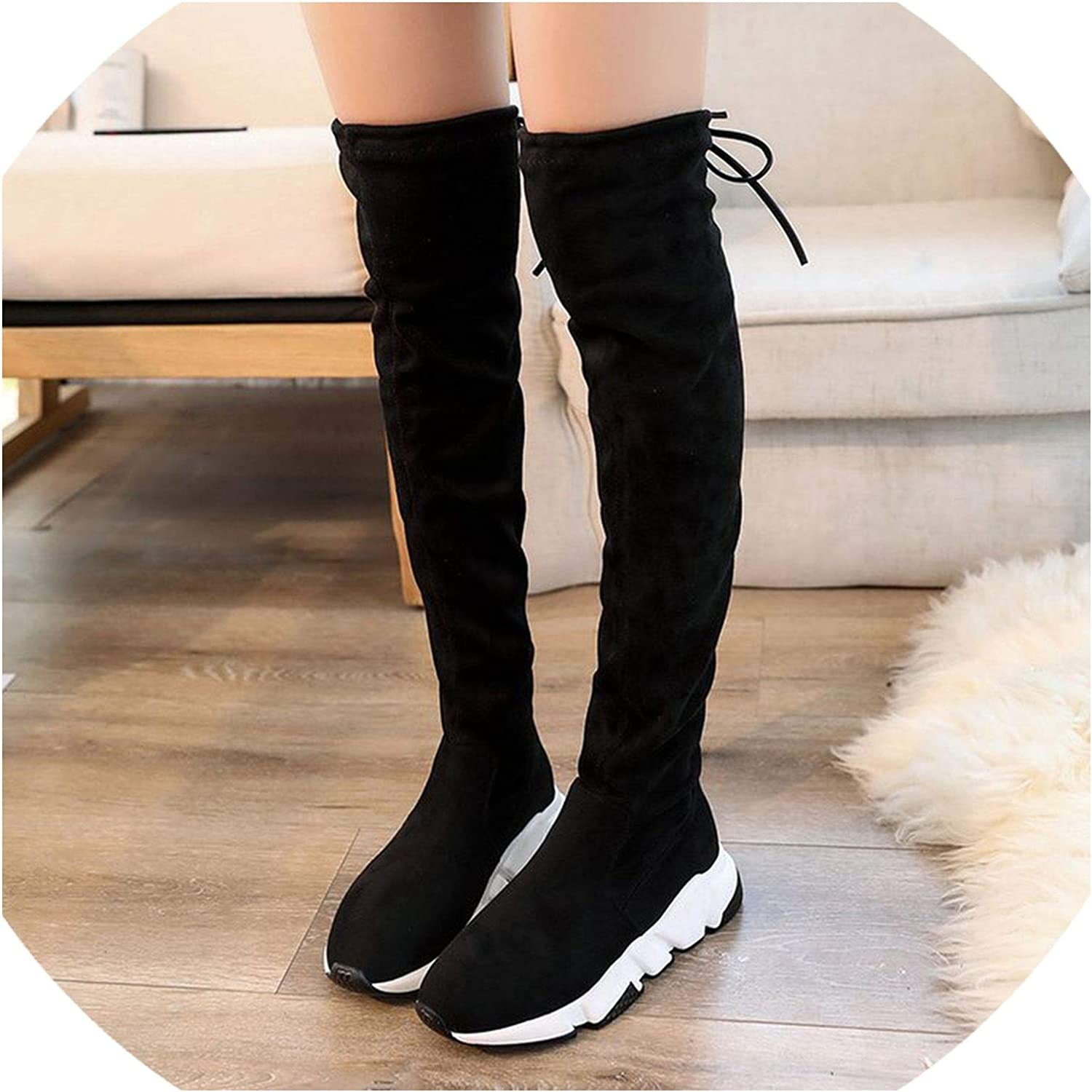 2018 New Winter Fashion Women Over The Knee Boots Casual Sexy High Heels Women shoes