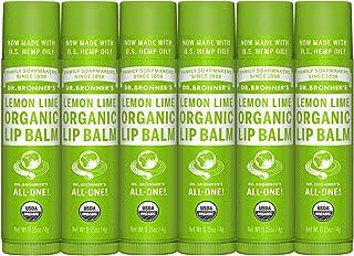Dr. Bronner's - Organic Lip Balm (Lemon Lime, .15 Ounce, 6-Pack)