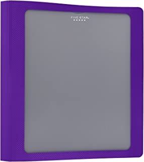 Five Star 1-1/2 Inch 3 Ring Binder, View Binder, Customizable Cover, Color Selected for You (26146)