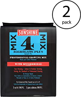SunGro Sunshine Mix #4 3 Cu Ft Compressed Professional Growing Mix (2 Pack)