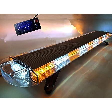 "55/"" 104W LED WORK LIGHT BAR BEACONS SAFETY EMERGENCY WARNING STROBE LIGHTS AMBER"