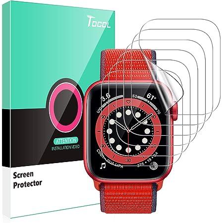 TOCOL 6 Piezas Protector de Pantalla para Apple Watch Series 6 5 4 40mm y Apple Watch Series 3 2 1 38mm HD Clear Soft TPU Film No Vidrio Sin Burbujas Instalación Fácil para iwatch 40mm y 38mm
