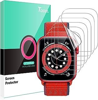 TOCOL 6 Pack Screen Protector Compatibel met Apple horloge Serie 6/5/4/SE 40mm HD Clear Krasbestendig Geen Bubbles Eenvoud...
