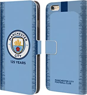 Official Manchester City Man City FC 2018/19 Kit 125 Year Anniversary Leather Book Wallet Case Cover Compatible for iPhone 6 Plus/iPhone 6s Plus