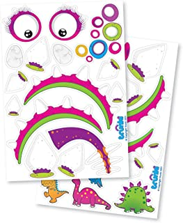 Trunki Dinosaur Sticker Pack - in Pink - Luggage Accessories - Luggage