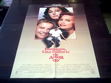 Original Latinamerican Movie Poster Enemies A Love Story Anjelica Huston