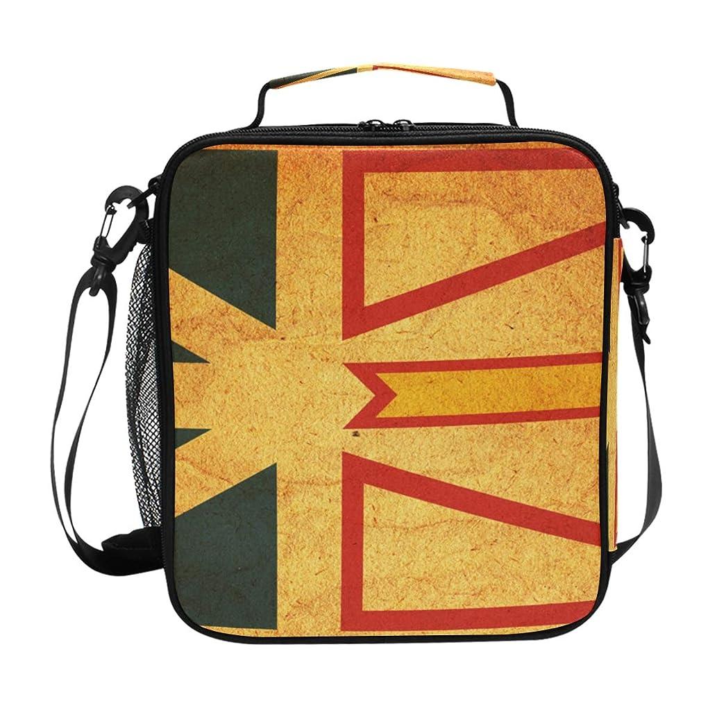 Vintage Newfoundland Labrador Provincial Flag Insulated Lunch Bag Box Cooler Bag Reusable Tote Bag Outdoor Travel Picnic Bags