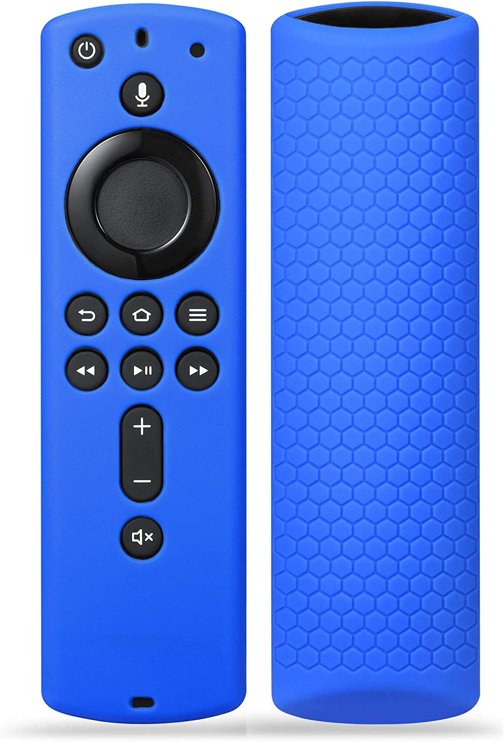 Silicone Remote Case Cover for Fir TV Stick 4K / Fir TV Cube/Fir TV (3rd Gen), SYMOTOP Shockproof Anti Slip Silicone Remote Case Compatible with All-New 2nd Gen Alexa Voice Remote Control- Dark Blue