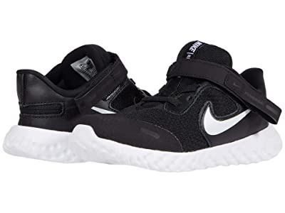 Nike Kids Flyease Revolution 5 (Infant/Toddler) (Black/White) Kid