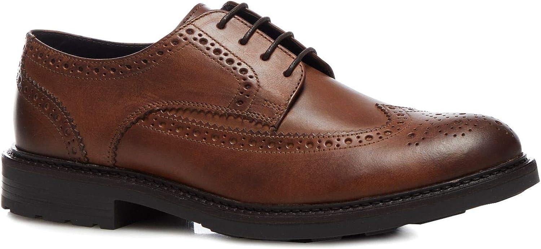 d0593607f3fb0 Base London Men Tan Leather 'Tread' Brogues noigxf6790-New Shoes ...