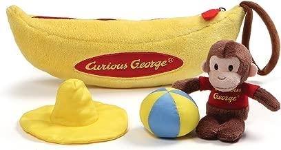 GUND Curious George Banana Sensory Skills Stuffed Animal Plush Playset (4 Piece)