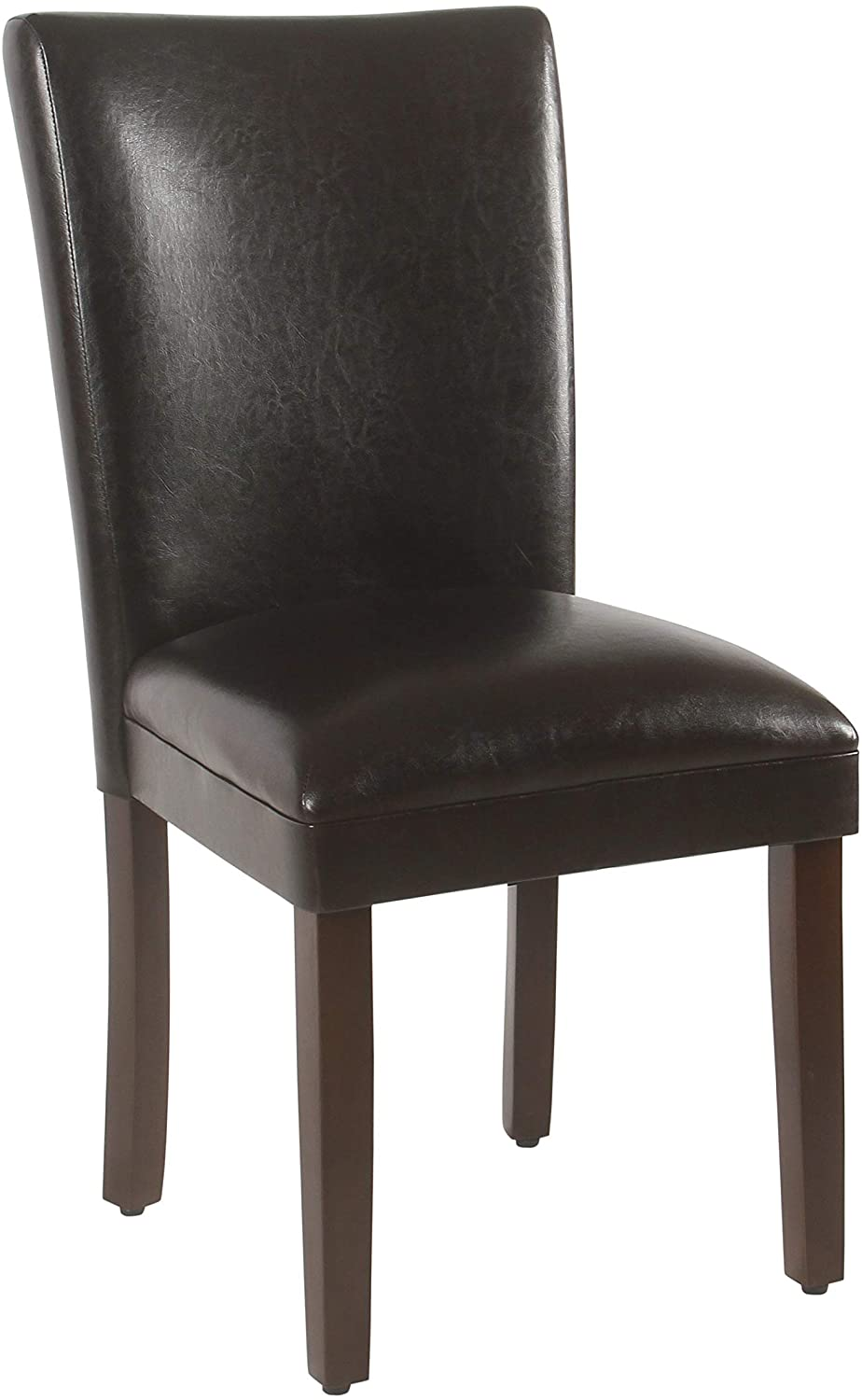 Limited price sale HomePop Long Beach Mall Parsons Upholstered Accent Dining Chair Set of Dark 2