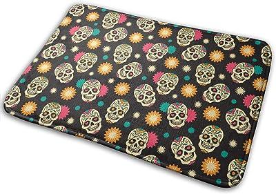 Cool Skulls Carpet Non-Slip Welcome Front Doormat Entryway Carpet Washable Outdoor Indoor Mat Room Rug 15.7 X 23.6 inch
