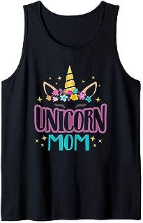 Unicorn Mom Girls Unicorns Birthday Party Squad Matching Tank Top