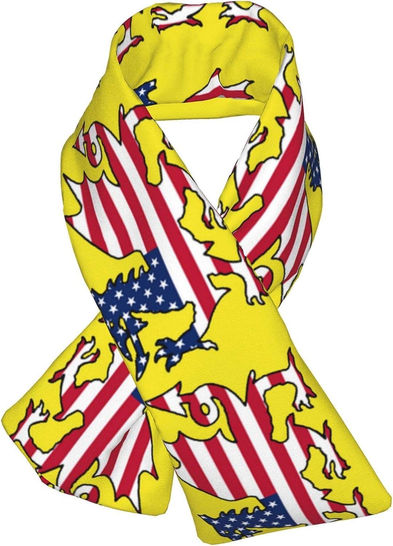 Winter Scarfs Wales Usa Flag Scarves Wraps Neck Warmer Flannel Winter Cross Tie Scarves