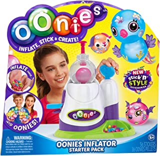 Oonies Inflator Starter Pack with Stick 'n' Style Accessories Including Oonies Pellets, Oonies Googly Eyes, Oonies Hair & Oonies Sticker Sheet!