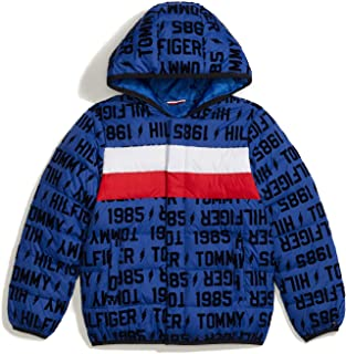Tommy Hilfiger Boys' Adaptive Down Puffer Jacket with Magnetic Zipper